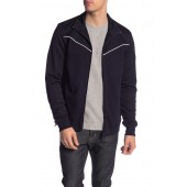 Contrast Piping Track Jacket