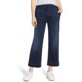 The Zipper Cinch Greaser High Waisted Crop Wide Leg Jeans