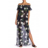 Elisa Floral Cover-Up Maxi Dress