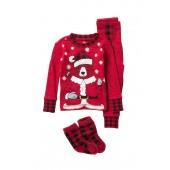 Long Sleeve Pajama Set & Socks (Baby)