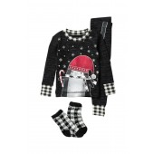 Long Sleeve Pajama Set & Socks (Toddler & Little Kid)