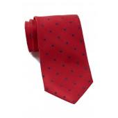 Silk Poset Dot Tie - XL Length