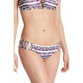 Artisan Side Cage Cutout Print Hipster Bottoms