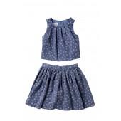 Printed Skirt Set (Toddler & Little Girls)