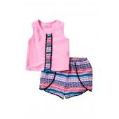 Pompom Tank & Shorts Set (Toddler & Little Girls)