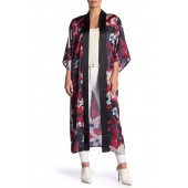 Floral Satin Woven Duster