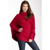 Dolman Sleeve Poncho Sweater