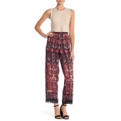 Satin Floral Pattern Pants