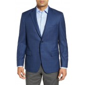 Classic Fit Windowpane Wool Sport Coat