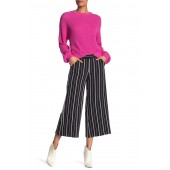 Striped Wide Leg Crop Pants