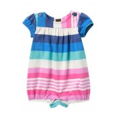 Button Shoulder Romper (Baby Girls)