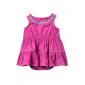 Embroidered Tiered Skirt Romper Dress (Baby Girls)