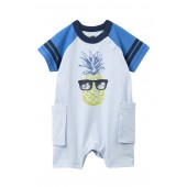 Pineapple Cargo Romper (Baby Boys)