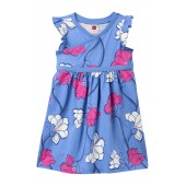 Wrap Neck Dress (Toddler Girls, Little Girls & Big Girls)