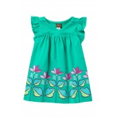 Graphic Wrap Neck Dress (Baby Girls)
