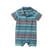Striped Polo Romper (Baby Boys)