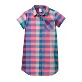 Plaid Shirt Dress (Big Girls)