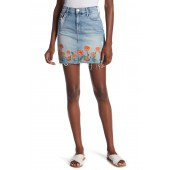 High Waist Straight Mini Skirt