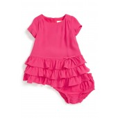 tiered dress & bloomer (Baby Girls)