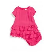 tiered dress & bloomer (Baby Girls)
