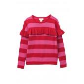 metallic knit sweater (Big Girls)