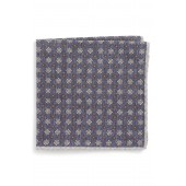 Medallion Wool & Cotton Pocket Square