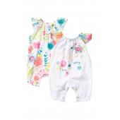 Spring Blossom Flutter Sleeve Bodysuits - Pack of 2 (Baby Girls)