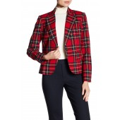 Vibrant Plaid Blazer