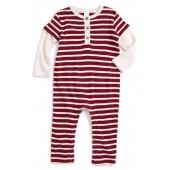 Stripe Layered Romper (Baby Boys)