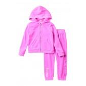 Burnout Fleece Hoodie Set (Toddler Girls)