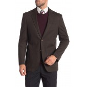Olive Two Button Notch Lapel Classic Fit Blazer