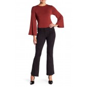 Pin Tuck Cropped Flare Pants