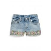 Peek Griffin Embroidered Shorts (Toddler Girls, Little Girls & Big Girls)