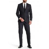Charcoal Tartan Two Button Notch Lapel Wool Suit