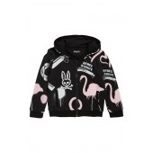 Flamingo Zip Hoodie (Toddler Girls, Little Girls & Big Girls)