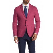 Pink Two Button Notch Lapel Jacket