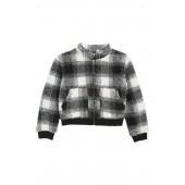 Plaid Faux Fur Jacket (Big Girls)