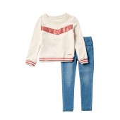 French Terry Pullover 2-Piece Set (Toddler Girls)
