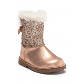 Lil Aurora Faux Fur Glitter Boot (Toddler & Little Kid)