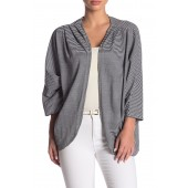 Striped Knit Cocoon Cardigan