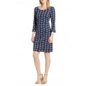 Jacquard Modern Sleeve Cotton Blend Dress