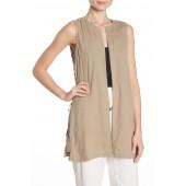 Lace-Up Silk Vest