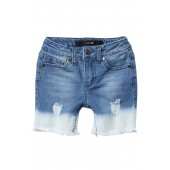 Bleached Mid Rise Shorts (Little Girls)
