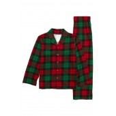 Plaid Two-Piece Pajamas (Toddler Boys, Little Boys & Big Boys)