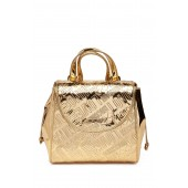 Embossed Metallic Logo Satchel