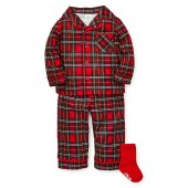 Plaid Two-Piece Pajamas & Socks Set (Toddler Boys & Little Boys)