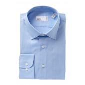Solid Trim Fit Dress Shirt