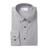 Gingham Trim Fit Dress Shirt