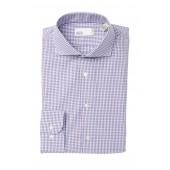 Plaid Trim Fit Dress Shirt