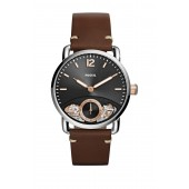 Mens Commuter Leather Strap Watch, 42mm